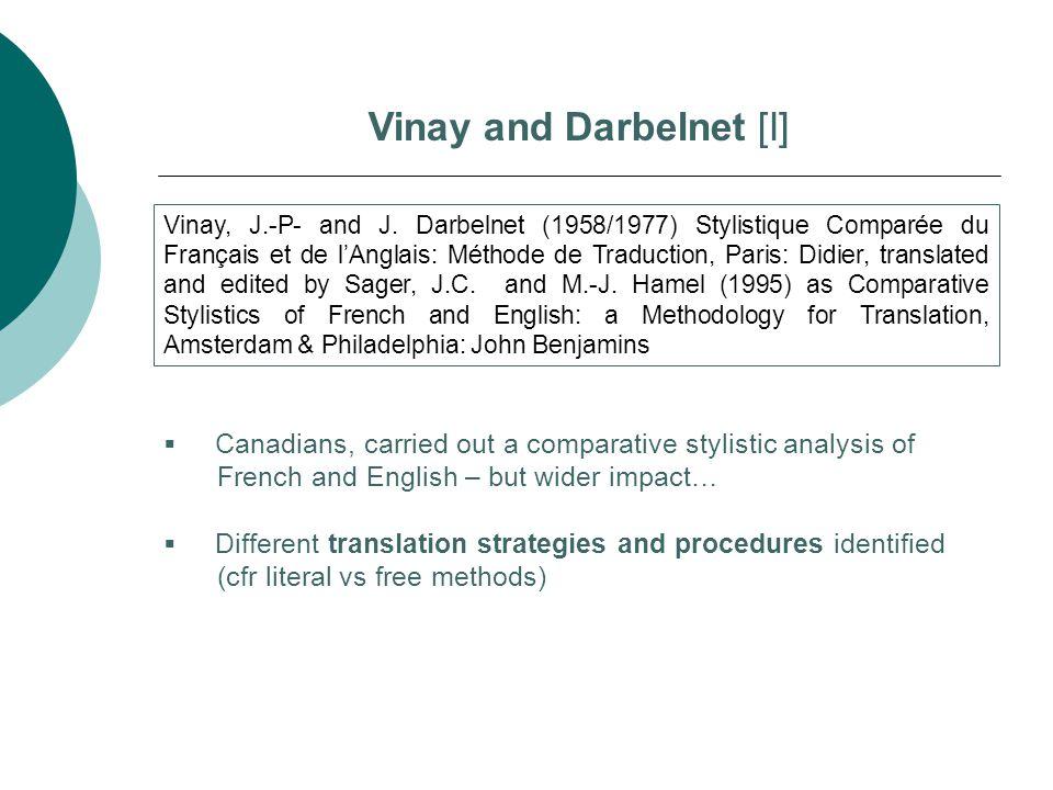 Vinay and Darbelnet [I]